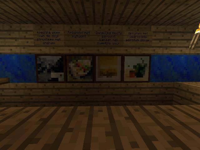 Minecraft restaurant