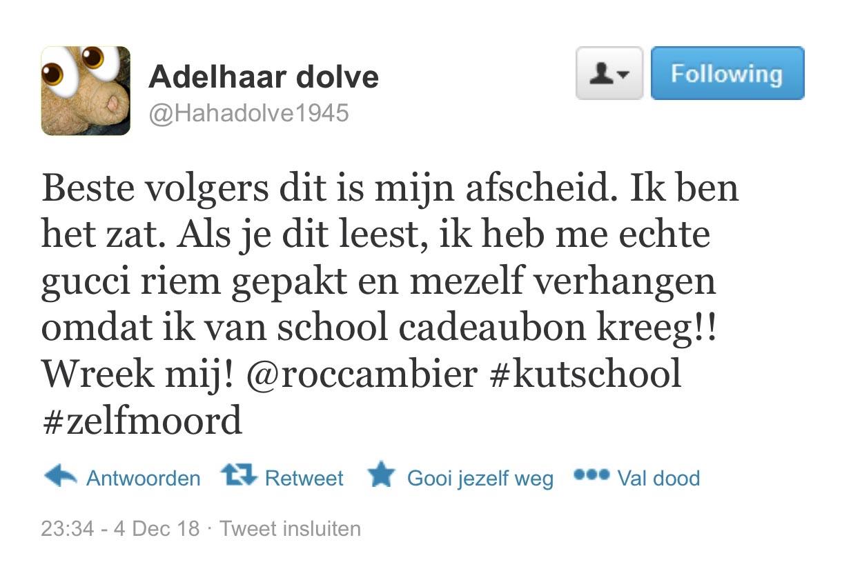 Tweet van Adolve